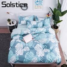 light blue girls bedding solstice home textile banana leaf light blue bed linen boy kid teen