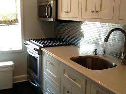 kitchen with stainless steel backsplash stainless steel backsplash tiles self adhesive steel tiles cheap