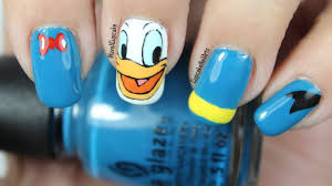 disney nail art video tutorial donald duck youtube