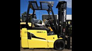 new 2017 hyundai 3 wheel electric forklift with 3 500lb capacity