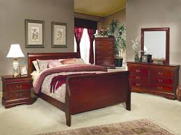louis philippe full size bed cherry wood finish bedroom