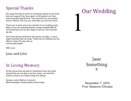 wedding program formats wedding program template in word and pdf formats