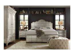 hooker furniture arabella king mirrored panel bed with metal
