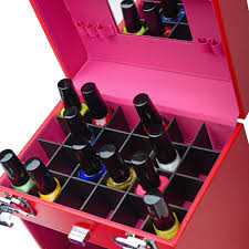 color matters nail accessories organizer and makeup train case