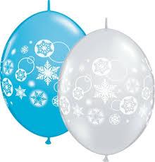 snowflake balloons 12 inch snowflakes circles qualatex link balloons