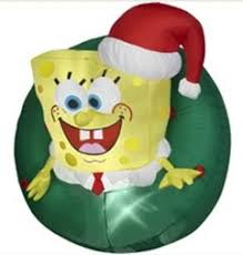 Air Blown Christmas Decorations Spongebob Squarepants Wreath Christmas Inflatable Christmas