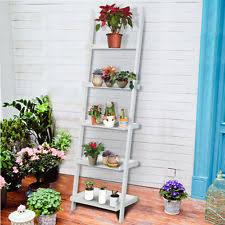 5 Tier Bookshelf Ladder Bookcase Ladder Shelf Leaning Corner Bookshelf Furniture Home Wood