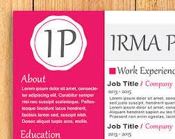 Edit Resume Template Word Word Resume Template Etsy