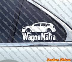 lowered subaru impreza wagon lowered wagon mafia sticker for dodge caliber ebay