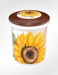 sunflower canisters for kitchen country kitchen decor details about new raz sunflower