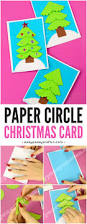 paper circle homemade christmas card easy peasy and fun
