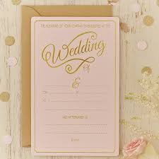 pink and gold wedding invitations pastel pink and gold foiled wedding invitations by