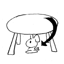 Cat Under Chair Cat Under The Chair Clipart Clipground