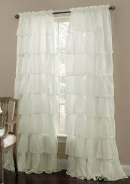 ruffled curtains and drapes decorate house with beautiful