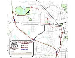 Route 66 Map Course Route 66 10k