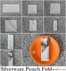 how to make fancy table napkins how to silverware pouch napkin fold party pinterest napkins
