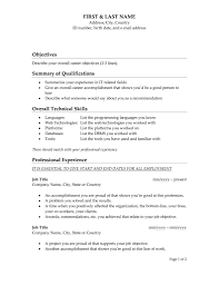 resume technical summary summary for retail resume free resume example and writing download good sales objectives for resume resume joss good objective for resume good objec