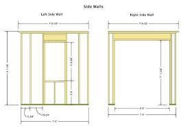 Wall Blueprints 16 16 Shed Plans U0026 Blueprints For Large Cabana Style Shed