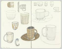 drawing designs for pitcher sugar bowl serving plate teapot
