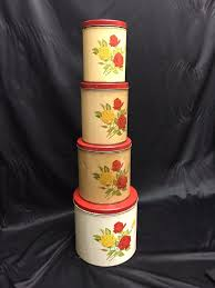 1952 vintage kitchen canister set gsw