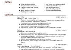 Examples Of Server Resumes Clever Design Server Resume Examples 3 Best Server Resume Example