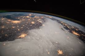 great lakes and central u s from the international space station