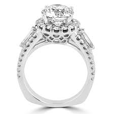 circle engagement ring with halo jean jewelers