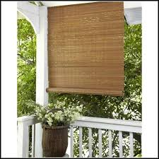 Outdoor Bamboo Shades For Patio by Bamboo Roll Up Patio Blinds Patios Home Decorating Ideas