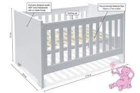 Crib Mattress Measurements Baby Bed Mattress Measurements Baby Bed