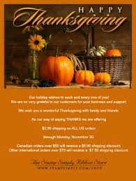 happy thanksgiving a thank you to our customers