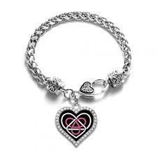heart pendant bracelet images Celtic sisters knot open heart charm bracelet jpg