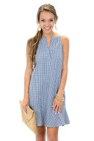 olive gingham dress sale the blue door boutique