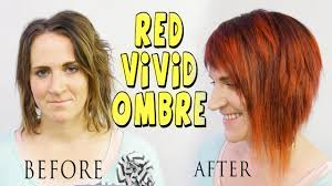 stunning red vivid ombre color correction tutorial youtube