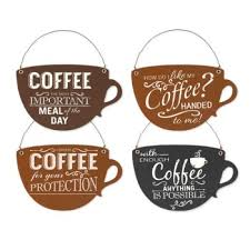 coffee cup quotes hanging ornaments