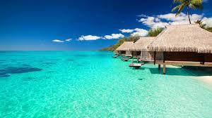 bungalows tag wallpapers paradise tahiti water blue spa bora