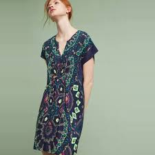 maeve clothing maeve medallion silk dress rank style