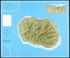 Pacific Region Map Large Regional Map Of Rarotonga Cook Islands South Pacific