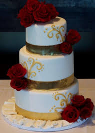 red white and gold wedding cakes tbrb info
