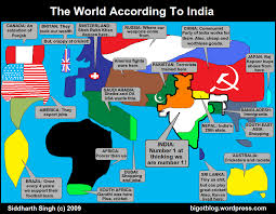World Map Of India by Lollll The World According To India Map Parodies The Best One