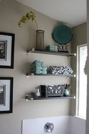 teal bathroom ideas cool teal bathroom glass shelves and white 3 d words