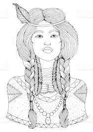 free mative american braids for hair photos native american girl with two braided pigtails and feathers in