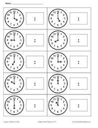 free telling time by the hour printable telling time