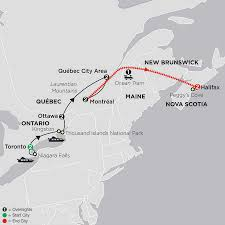 Nova Scotia Canada Map by Travel To Canada Cosmos Budget Travel Packages