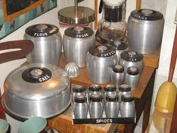 vintage kitchen canister set vintage aluminum canister kitchen set nostalgia pinterest