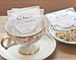 tea cup favors tea party favors herbal bath tea bags set of 15 tea time in