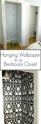 wallpapers in home interiors hanging wallpaper in a bedroom closet