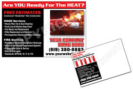 kitchen exhaust cleaning post cards for restaurant marketing