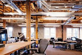 Office Interior Design by The Amazing Combination Of Bricks And Wood To Create Beautiful Offices