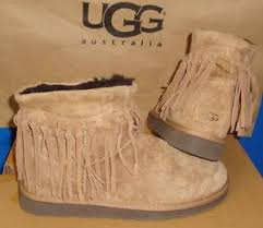 s suede ankle boots australia ugg australia chestnut wynona fringe suede ankle boots size us 9