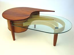 furniture alluring kidney shaped coffee table with futuristic